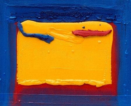 Regard souligné rouge et bleu, 50 x 60 cm, mai 2005