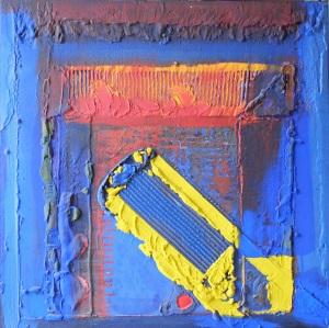 De longue date, décembre 2005, 100X100 cm