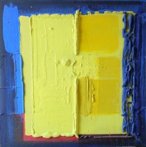 deux demis jaunes, janvier 2002, 90X90 cm