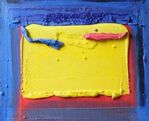 regard souligné rouge et bleu, 2005, 50X60cm