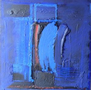 toute bleue, virgule, 1999, 100X100
