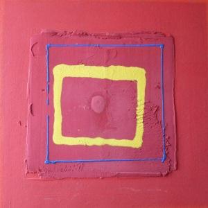 Visée décallée, 90X90 cm, octobre 2001